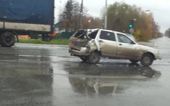 «Не разъехались». Фото с аварии на перекрестке Рязань-Москва-Рыбное 22 октября