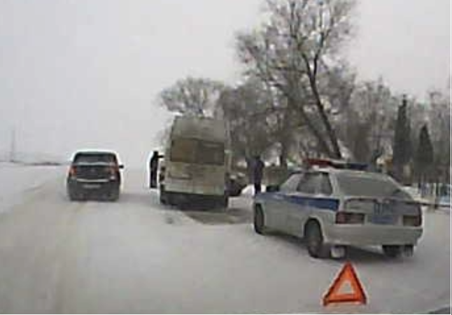Непогода. Пострадало маршрутое такси «Рязань-Рыбное №144»