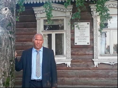 Николай Валуев посетил музей-заповедник С.А. Есенина в Рыбновском районе