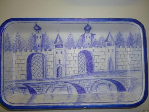 В краеведчеком Рыбновском музее открылась выставка картин из продуктовых коробок