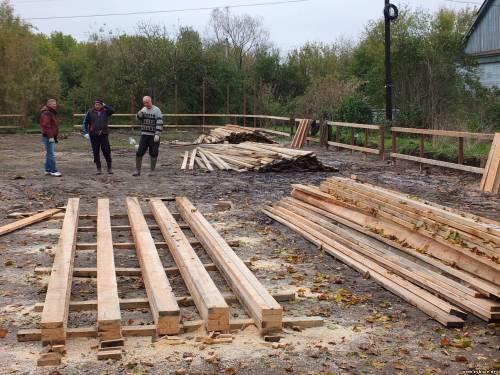 В Федякино начали строительство новой хоккейной площадки