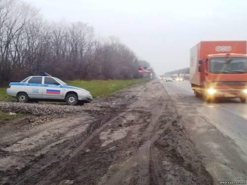На трассе М5 «Москва - Урал» муляж машины ГИБДД?