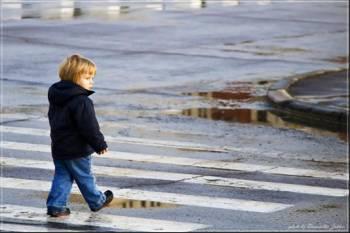 Пешеходы в городе Рыбное