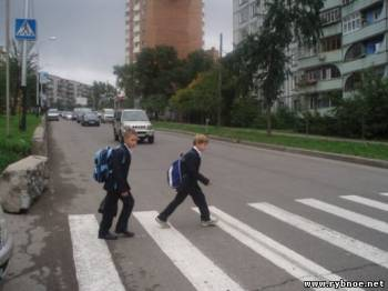 Пешеходы в Рыбном