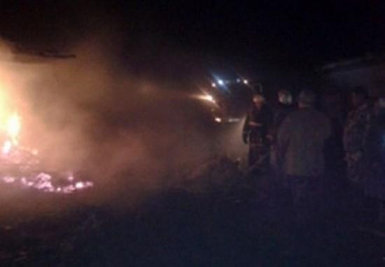 На пожаре пострадал подросток