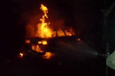 В Рыбновском раойне сгорел автомобиль