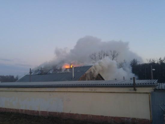 Рядом с ТПК «Синергия» сгорела хозяйственная постройка