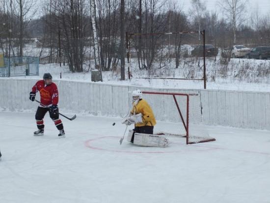 3-5 туры Чемпионата Рыбновского района по хоккею