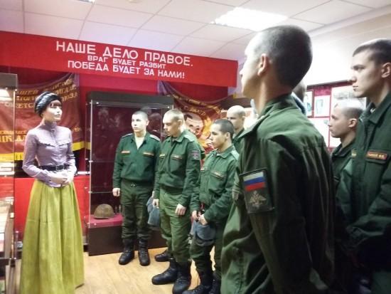 Военнослужащие воинской части №98531 города Рыбное отпраздновали Рождество в Музее обороны и тыла