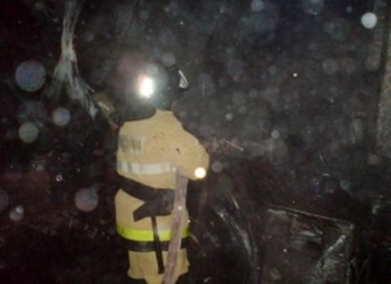 Ночью в Рыбном сгорел автомобиль