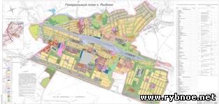 карта города Рыбное