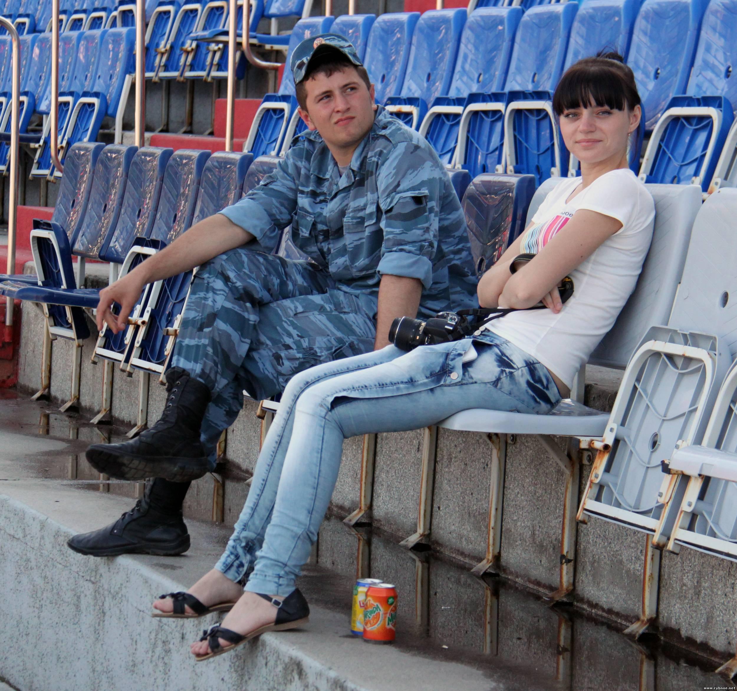 Болельщики из города Рыбное