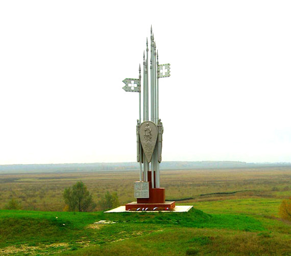 Мемориал битвы на реке Воже в Глебово-Городище